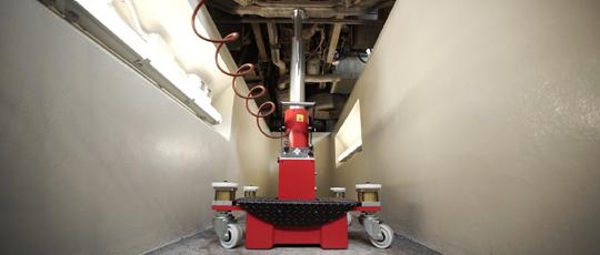 Мобильный ямный домкрат на 10/20 т EASY, колеса на пневмоамортизаторах
